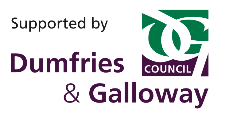 Logo stating Supported by Dumfries and Galloway Council